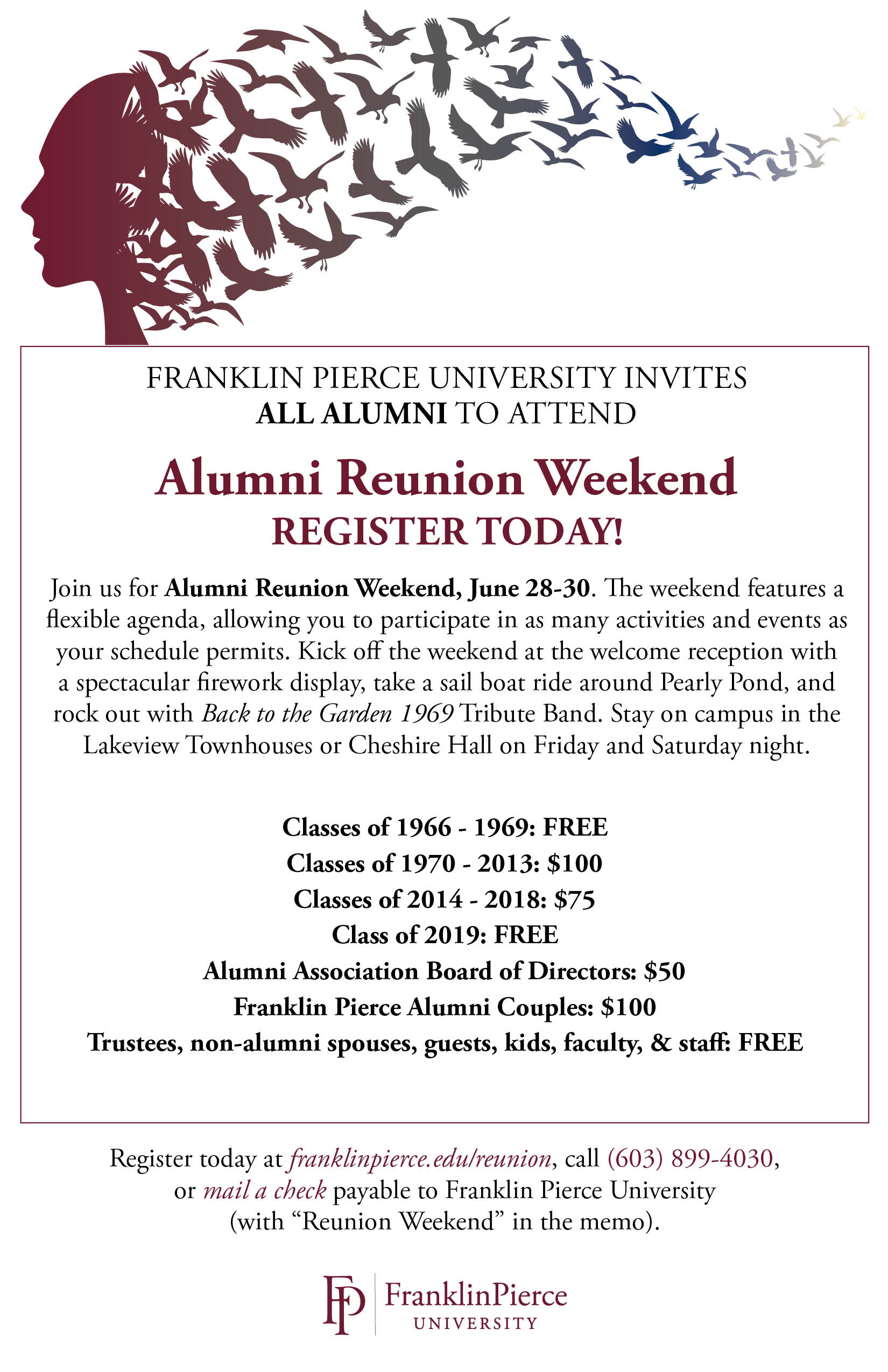 Alumni Reunion Weekend 2019 Save the Date