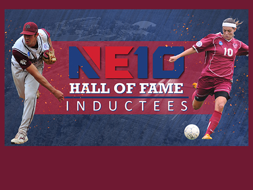 A pair of Franklin Pierce University alumni have been selected for induction into the Northeast-10 Conference Hall of Fame, as announced on Monday afternoon by the league office. Baseball alum Mike Adams '09 and women's soccer alum Gabriela Demoner '10 will become the eighth and ninth Franklin Pierce honorees in the NE10 Hall of Fame.