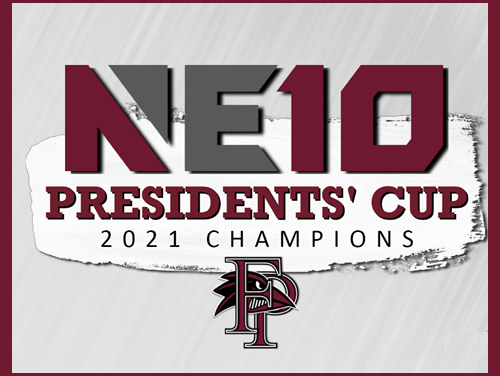For the first time in its history, the Franklin Pierce University Department of Athletics has laid claim to the Northeast-10 Conference Presidents' Cup. The Ravens were announced as champions of the spring 2021 edition of the competition among member institutions as part of the NE10's end-of-year virtual awards ceremony Monday night.
