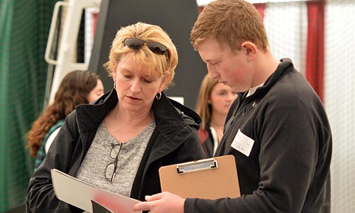 Parent and prospective student at Open House