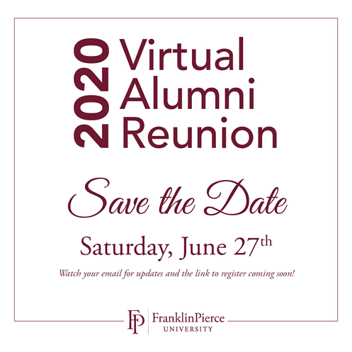Alumni Reunion Weekend 2020 Save the Date