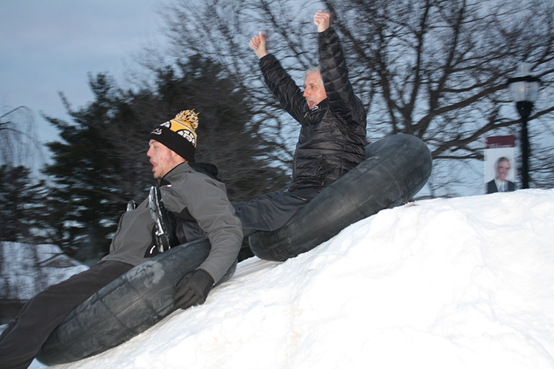 Franklin Pierce University President Andy Card Joins Students in Snow Fun