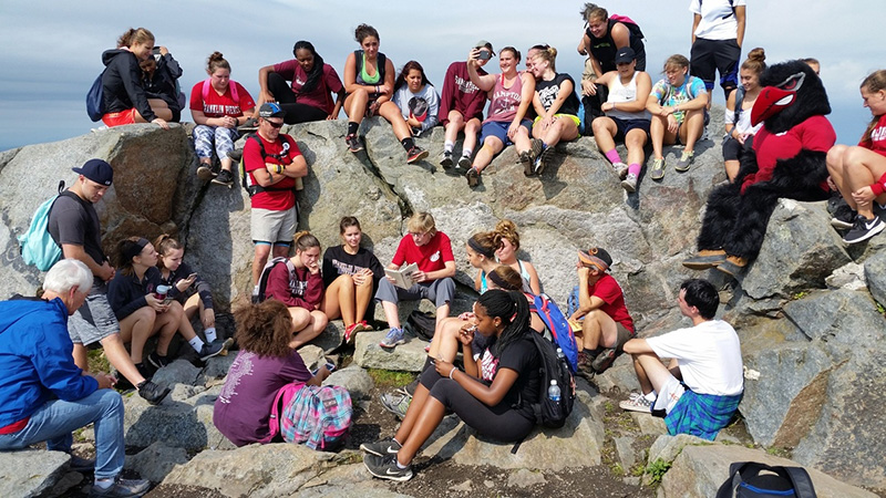 Record Number of Participants Took to Mount Monadnock for Franklin Pierce's Annual Climb