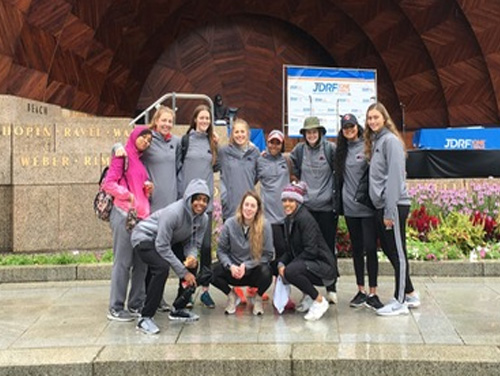 Women's Basketball Raises $1,615 for JDRF