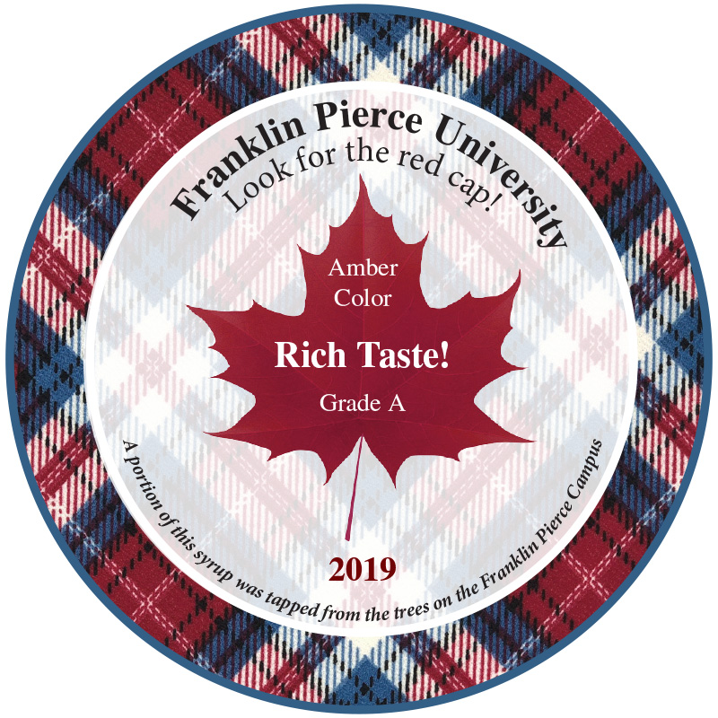2019 Maple Syrup Label for Franklin Pierce University